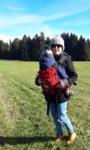 Kleinkind tragen Storchenwiege Babycarrier