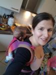 Baby auf dem Rücken tragen